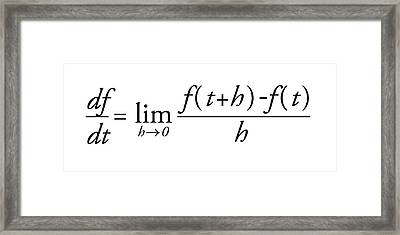 Differential Calculus Equation Framed Print by Science Photo Library