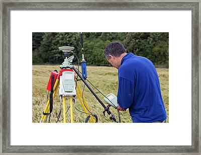 Differential Gps Framed Print by Ashley Cooper
