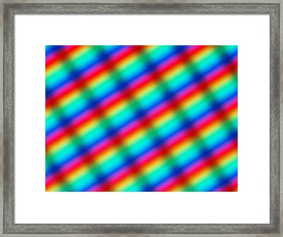 Diffracted Light Pattern Framed Print by Alfred Pasieka
