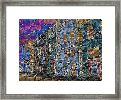 Diffraction Diffusion Framed Print by MJ Olsen