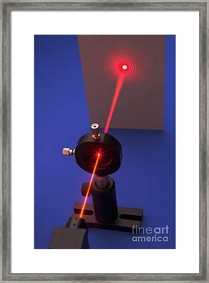 Diffraction On Circular Aperture Framed Print