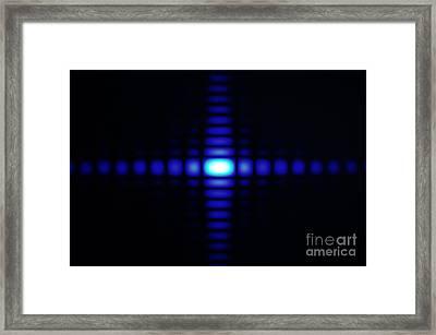 Diffraction On Rectangular Aperture Framed Print by GIPhotoStock