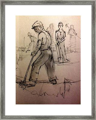 Diggin The Trench Framed Print