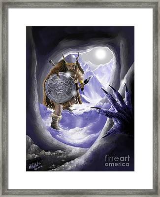 Digging Out Troll Framed Print by Rick Mittelstedt