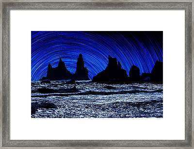 Digial Composite Of Large Rocks Framed Print by Panoramic Images