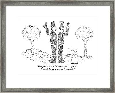 Digibuytwo Men In Top Hats And Bow Ties Stand Framed Print