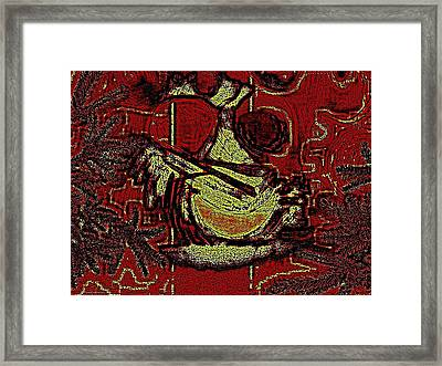 Digital Abstract Framed Print by HollyWood Creation By linda zanini