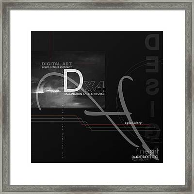 Digital Age X4 Framed Print