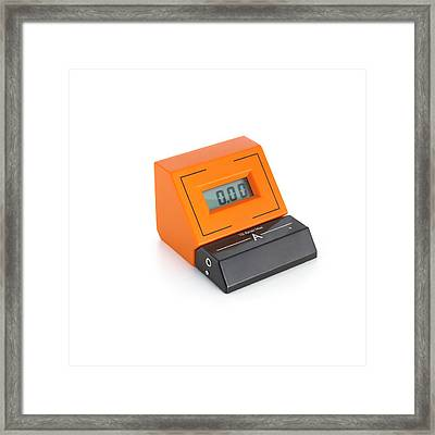 Digital Ammeter Framed Print by Science Photo Library