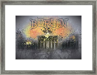 Digital-art Brandenburg Gate I Framed Print by Melanie Viola