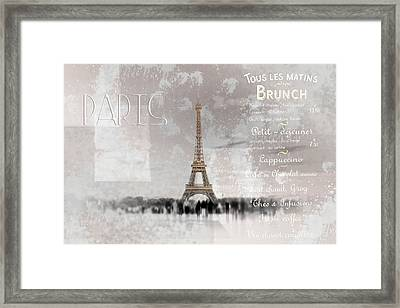 Digital-art Eiffel Tower II Framed Print by Melanie Viola