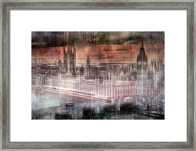 Digital-art London Westminster II Framed Print by Melanie Viola