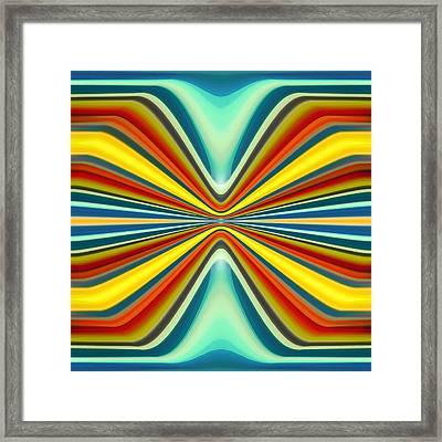Digital Art Pattern 8 Framed Print by Amy Vangsgard