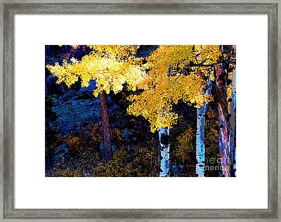 Digital Aspen Framed Print