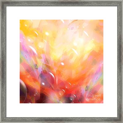 Digital Bubbles Framed Print by Lutz Baar