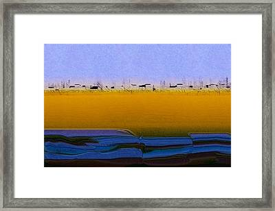 Digital City Landscape - 2 Framed Print