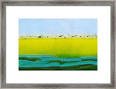 Digital City Landscape Framed Print