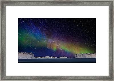 Digital Composite - Aurora Borealis Or Framed Print