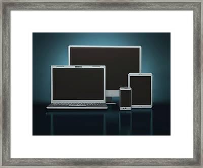 Digital Devices Framed Print by Ktsdesign