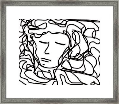 Digital Doodle Framed Print