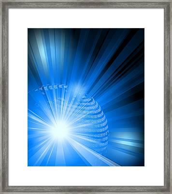 Digital Earth Framed Print by Adrian Grosu