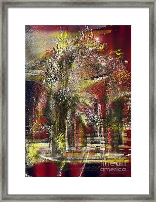 Digital Effect Framed Print by Bruno Santoro