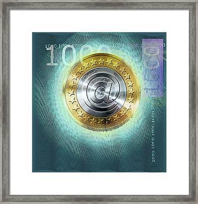 Digital Euro Currency Framed Print by Smetek