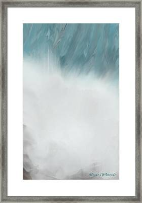 Digital Falls Framed Print
