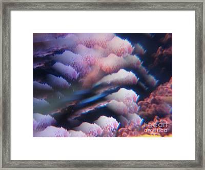 Digital Fantasy Storm Abstract Framed Print by Sheri Dean