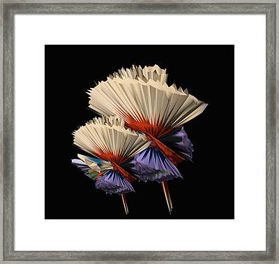 Digital Flower Dance Framed Print by Colleen Cannon