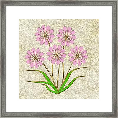 Digital Flowers #6 Framed Print by Pat Follett