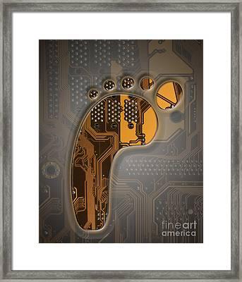 Digital Footprint Framed Print
