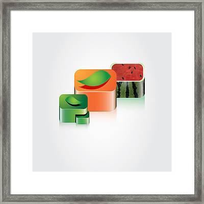 Digital Fruits Framed Print by Ali ArtDesign