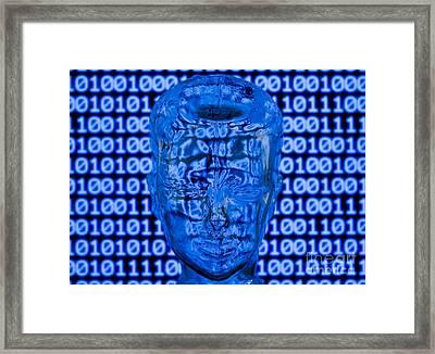 Digital Head Framed Print