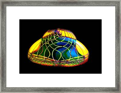 Digital Lamp Shade Framed Print by Gunter Nezhoda