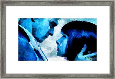 Digital Love Tnm Framed Print by Vincent DiNovici