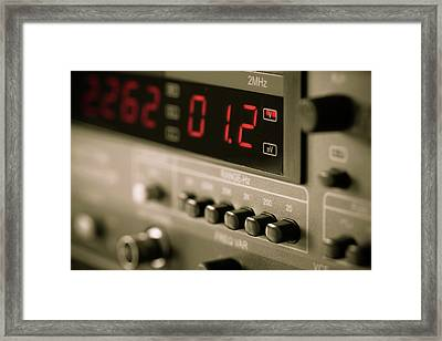 Digital Measuring Device Framed Print by Wladimir Bulgar