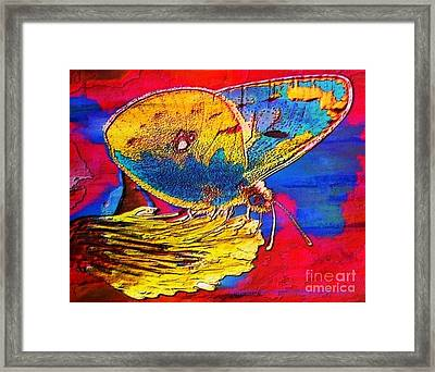 Digital Mixed Media Butterfly Framed Print