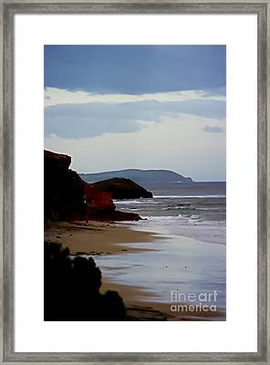 Digital Painting Of Smiths Beach Framed Print by Blair Stuart