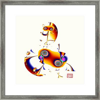 Digital Picasso - Hobby Horse Framed Print
