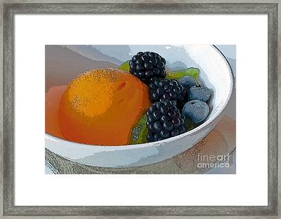 Digital Poster Of Sorbet And Fruit Framed Print