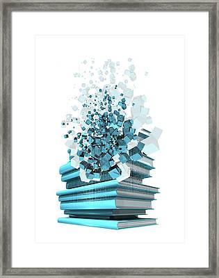 Digital Publishing, Conceptual Artwork Framed Print by Victor Habbick Visions