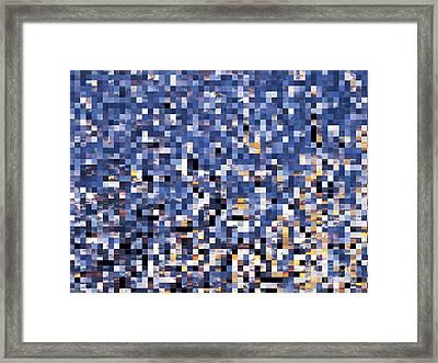 Digital Sunset Framed Print