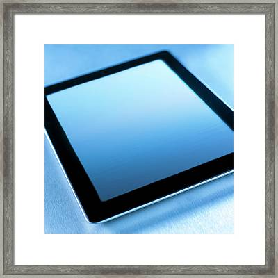 Digital Tablet Framed Print by Science Photo Library