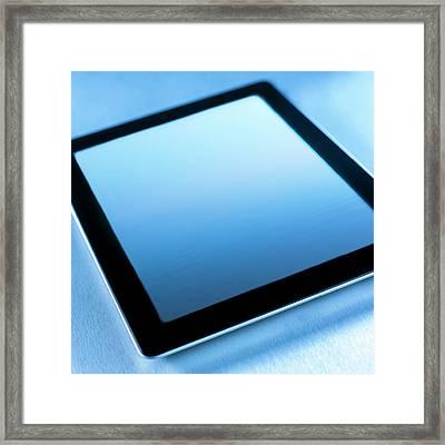 Digital Tablet Framed Print
