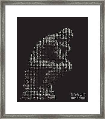digital Thinker Framed Print