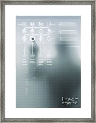 Digital User Interface Framed Print