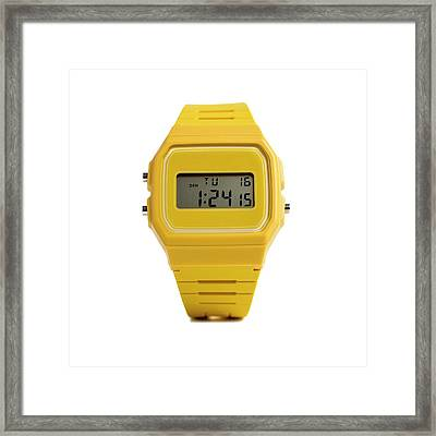 Digital Wristwatch Framed Print by Science Photo Library