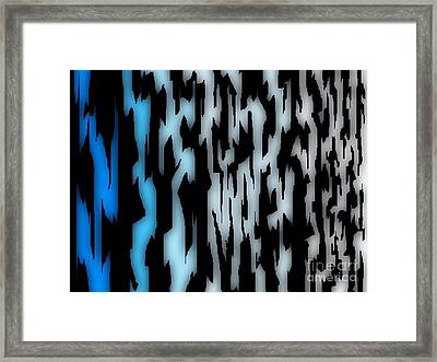 Digital Zebra Coat Framed Print