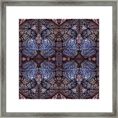 Digitized Ballpoint Circuler Eight Squared Framed Print by Jack Dillhunt